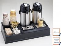 Kaffeestation f. 2 Kannen, Selbstbedienung Station Bufett Kaffeebar Gastro Profi