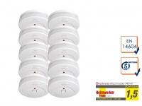10er-SET Rauchmelder TÜV Zertifiziert & 5 Jahres Batterie, Feuer Brand Melder