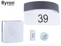 Türklingelset und Hausnummer LED Wandleuchte mit Dämmerungssensor, Klingelanlage