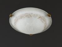 Deckenleuchte altmessing/Glas alabasterfarbig Ø 40 cm Honsel-Leuchten