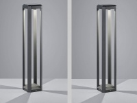 2er SET ALU LED Außenlampen H80cm Stehlampe für Garten & Terrasse in anthrazit