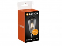 E27 LED Leuchtmittel dimmbar, Filament LED Glühlampe 4W, Action by Wofi