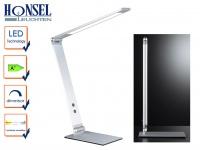 LED Schreibtischleuchte Aluminium verstellbar Dimmer & 4 Lichtfarben Bürolampe