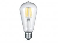 Nicht dimmbares E27 LED Leuchtmittel mit 6W& 420lm warmweiß Kolbenform Glas klar