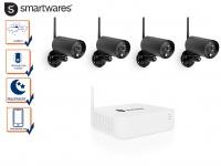 Full HD Kamera Sicherheitssystem 4 Außenkameras & Rekorder, Überwachungskamera