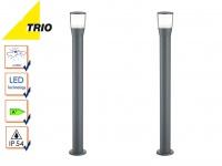 2 Stk. Trio LED Wegeleuchten Pollerleuchten SHANNON anthrazit, Außenbeleuchtung