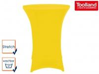 STRETCH Stehtisch-Husse gelb hochwertig für Ø 80 x 110cm, Bistrotisch Hussen