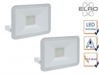 2 Strahler weiß Baustrahler LED 5000K Scheinwerfer Arbeitsleuchte Flutlicht