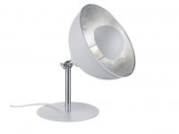 Retro Nachtischleuchte mit Lampenschirm schwenkbar in Schwarz / Gold mit E14 LED