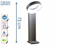 Wegeleuchte ASTI, anthrazit, 18 Watt HP-LEDs, 1400 Lumen, 5000K