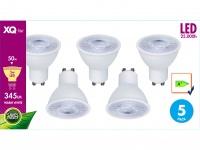 5er-SET LED Leuchtmittel 5W warmweiß, 345 Lumen, GU10 / PAR16, 3000 Kelvin
