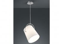 LED Pendelleuchte mit STOFF Lampenschirm weiß schwenkbar Ø 28cm - Esstischlampen