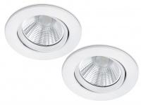 2 LED Einbaustrahler Decke rund Ø 8, 5cm schwenkbar dimmbar Weiß matt 5, 5W