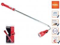Flexible LED Taschenlampe mit Magnet und Teleskopstange, Handlampe ausziehbar