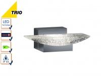 LED Wandlampe Badlampe Chrom, Leuchte Badezimmer modern, Acryl mit Blasen Trio