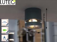 LED Außenleuchte Aluguss anthrazit Ø10cm IP44 Wandleuchte Deckenleuchte außen