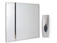 Design Funktürgong zur Wandmontage weiß, 4 Melodien selbstlernend, batteriebetr.