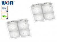 2er Set 4-flammige LED Deckenleuchte TYRA, Chrom, LED Deckenlampen Deckenleuchte