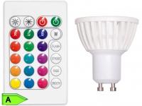 3, 5 W RGB LED, dimmbar, Farbwechsler/Fernbedienung, GU10, XQ-lite