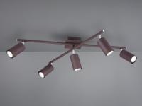 Deckenstrahler mit 5 LEDs für Wohnzimmer, Schlafzimmer & Küche in Burgunder