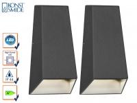 2er-Set Up/Down Außenwandleuchte IMOLA anthrazit 6 Watt High-Power-LED IP44