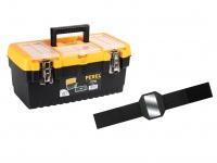Werkzeugkiste Kunststoff mit Ablage + Easy Work Magnet, Werkzeugkasten leer Box