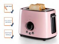 Toaster Edelstahl Pastell rose Toastautomat automatische Zentrierung Retro