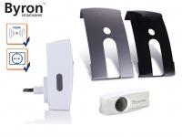 BYRON Funk Türklingel Set für Steckdose mit austauschbarer Blende, Klingelanlage