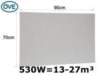 503W Infrarotheizung, 90x70 cm, für Räume 13-27m³, bemalbar, IP44