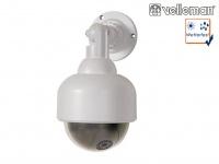 Dome Kamera Attrappe, rote IR-LED, Fake Dummy Innen Außen Überwachungskamera