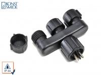 Stromverteiler für 12V-System, Kunststoff, IP44, Verteilersteckdose AMALFI