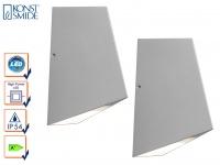2er-Set Up/Down Außenwandleuchte IMOLA, 8 Watt High-Power-LEDs, IP54