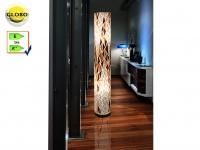 Globo Design Stehlampe BALI, 150cm, Textil Muscheln, Wohnzimmerlampe Stehleuchte