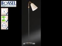 Stehleuchte Schwarz / Bronze Schirm Stoff flexibel H. 170cm Stehlampe Wohnzimmer