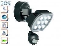 HP-LED Außenwandleuchte PRATO Bewegungsmelder IP44, 9W, 630 Lm