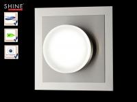 LED Wandleuchte 15x15 cm, Samsung LED, Schalter, Fischer Leuchten
