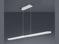 Große Hängeleuchte für Innen - LED Innenbeleuchtung mit Switch Dimmer, weiß matt