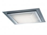 Moderne SMD-LED-Deckenleuchte ink.18W LEDs, 38x38cm, Chrom Flurleuchte