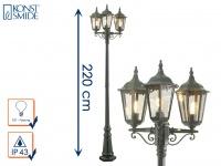 3-flammige Standleuchte Straßenlaterne Straßenlampe Wegeleuchte grün