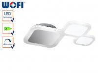 LED Deckenbeleuchtung in Chrom mit Acryl, dimmbar, Deckenlampen Deckenleuchten