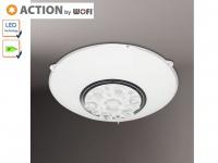 LED Deckenleuchte 25cm, Glas weiß / Kristallglas, Action by Wofi