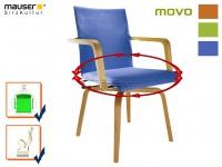 Blauer Funktionsstuhl MOVO Rotationsstuhl Senioren Stuhl Sessel Armlehnstuhl