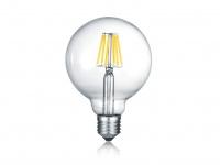 Extern dimmbares LED Leuchtmittel mit E27 Fassung mit 6W & 600Lm warmweiß, Glas