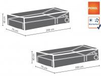Gartenmöbel Schutzhüllen Set 200x75cm für Sonnenliegen, Abdeckhauben Gartenliege