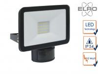 10W LED Strahler Fluter schwarz Bewegungmelder 6 Meter Scheinwerfer Wandstrahler