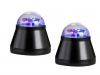 2x LED Tischleuchte/Nachtlicht Teddyprojektor 4W LED Multicolor mit Motor Ø10cm