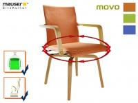 Funktionsstuhl terracotta MOVO Rotationsstuhl Senioren Stuhl Sessel Armlehnstuhl