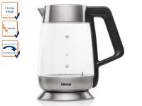 DESIGN Glas Edelstahl Wasserkocher mit Temperatur Wahl 1, 8 Liter, Teekocher
