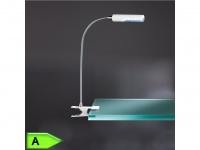 LED Klemmspot FLEX in weiß, 12-flammig, höhe 40 cm Action by Wofi
