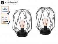 2er Set Retro LED Tischleuchte / Dekoleuchte Batteriebetrieb Stimmungslicht